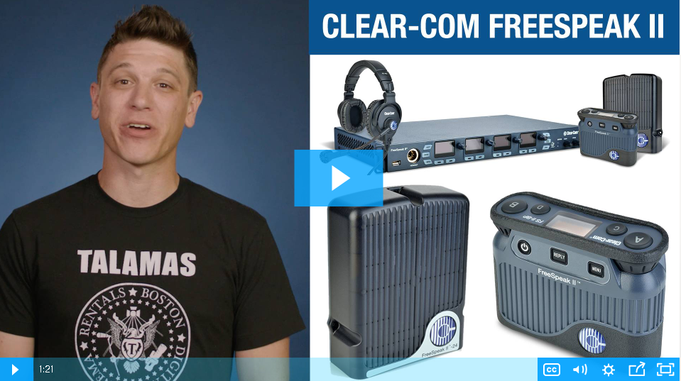 VIDEO: Getting a Clear Signal from the Clear-Com FreeSpeak II