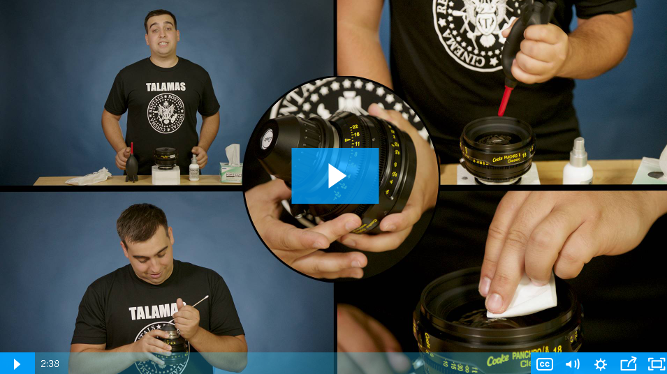 VIDEO: How to Clean Your Valuable Lenses with Nick from Talamas
