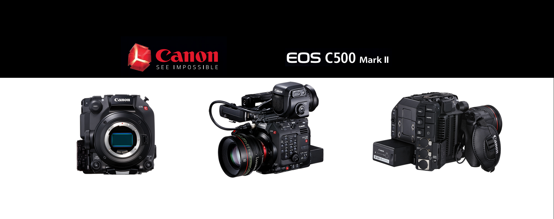Canon EOS C500 Mark II in EF or Pl Mount