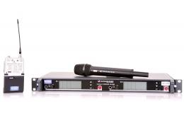 Sennheiser EM3032 SK50 SKM5000 Wireless Microphone System with Beltpack and Handheld Transmitters