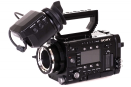 Sony PMW-F5 CineAlta Digital Cinema Camera front left view