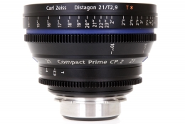 Zeiss 21mm T2.9 CP.2 Compact Prime Lens with PL Mount