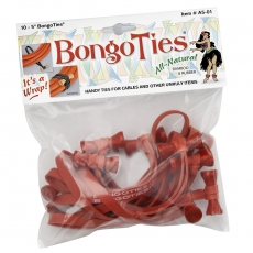 Bongo Ties, Bamboo/Natural, 10 Pack