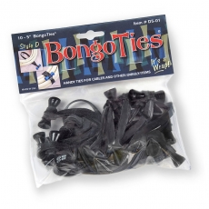 Bongo Ties, Blue, 10 Pack