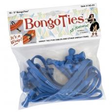 """Bongo Ties 5"""" Elastic Ties 10 Pack, Azure"""