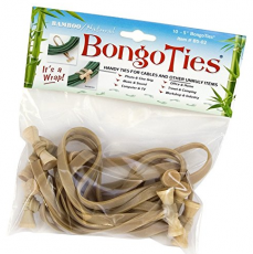 Bongo Ties, Bamboo/Natural, 10 Pack