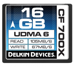 Delkin CompactFlash 16GB 700X Memory Card