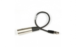 "12"" audio cable for SR receiver, TA3F plug to 3 pin male XLR."