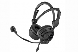 "Sennheiser HMD26-II  Professional Broadcast Headset,  dynamic microphone, 600 Ohm,  XLR and 1/4"""