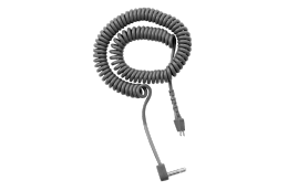 "Telex CCX-2 Coiled Cable With Right Angle 1/8"" Mini Connector"