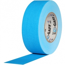 "Professional Gaffer Tape, 2"" x 55 Yards, Fluorescent Blue"
