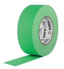 "Professional Gaffer Tape, 2"" x 55 Yards, Fluorescent Green"