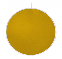 """Visual Departures Flexfill 38-3 38"""" Gold/White Reversible Reflector"""