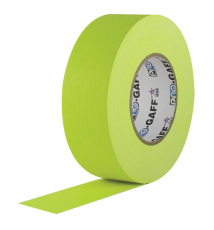 """Visual Departures Professional Gaffer Tape, 2"""" x 55 Yards, Fluorescent Yellow"""