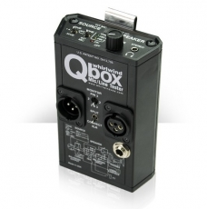 Whirlwind Qbox Battery Powered Audio Line Tester side view
