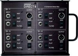 Whirlwind Direct 4 Stage Box, 4 Channels