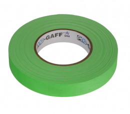 "Visual Departures Professional Gaffer Tape, 1"" x 55 Yards, Fluorescent Green"