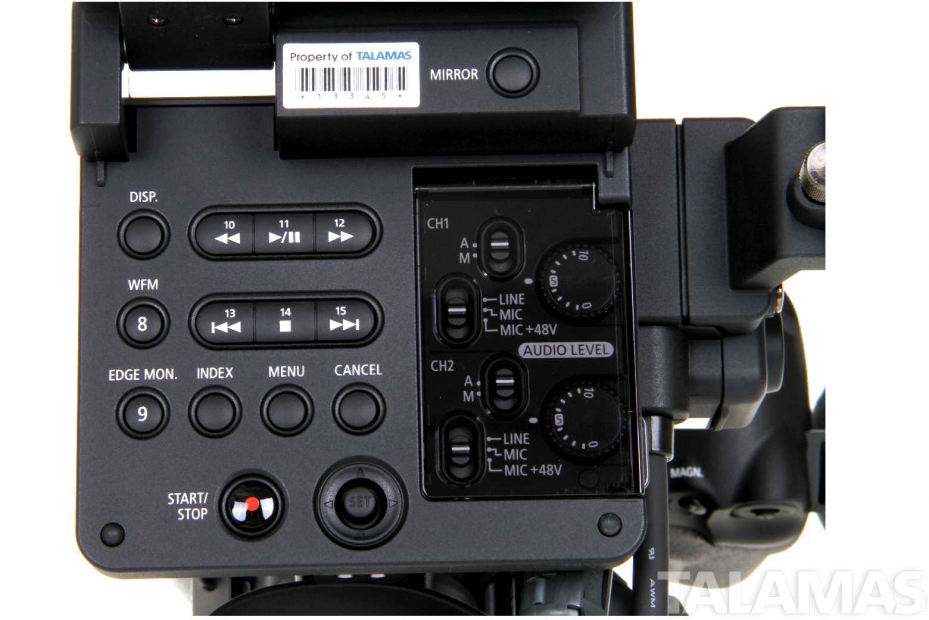 Canon EOS C300 Camera EF Mount buttons view
