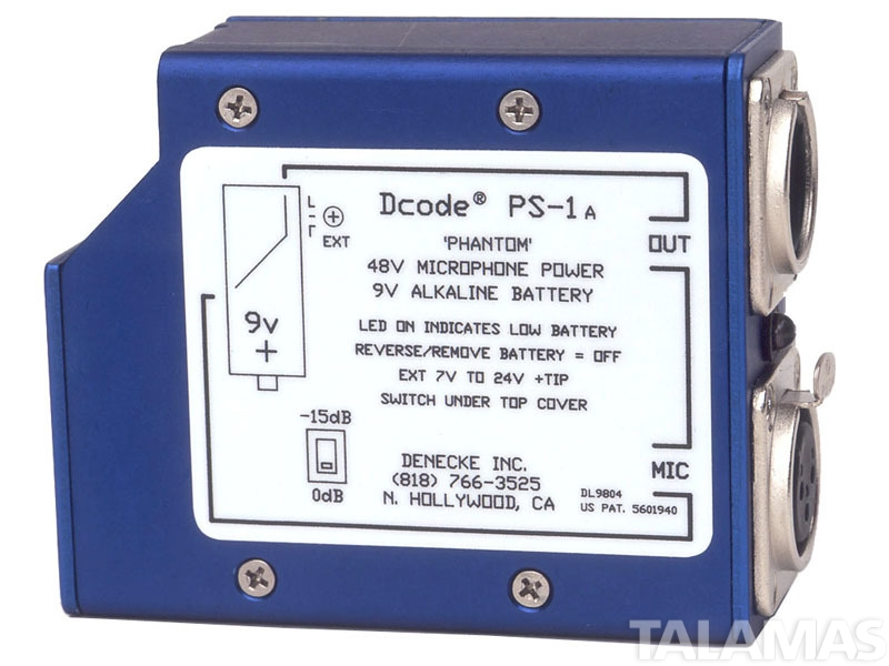 Denecke PS-1 48v Phantom Power Supply