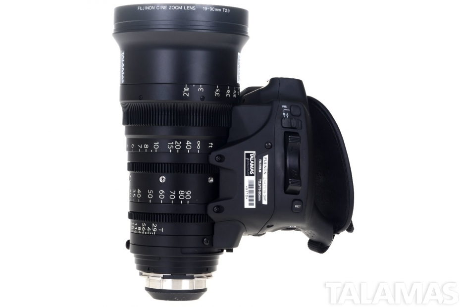 Fujinon Cabrio 19-90mm T2.9 Zoom Lens top view