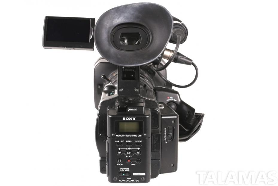 Sony HVR Z7U 1080i HDV Camcorder rear view
