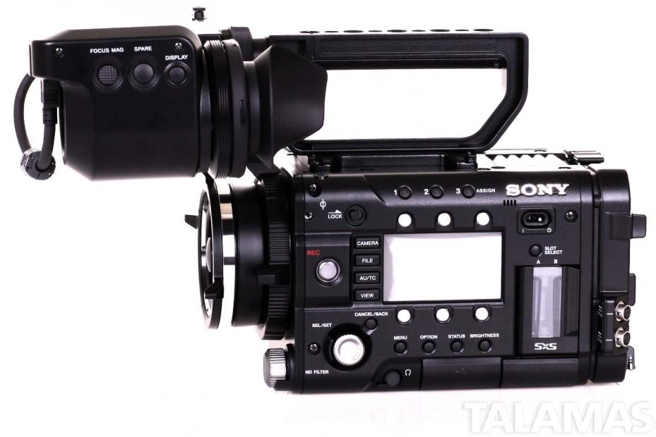 sony f5. sony pmw-f5 cinealta digital cinema camera left view f5 m
