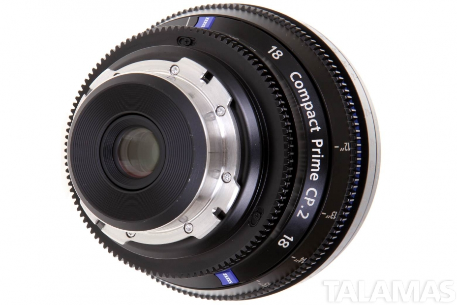 Zeiss 18mm T3.6 CP.2 Compact Prime Lens with PL Mount rear view