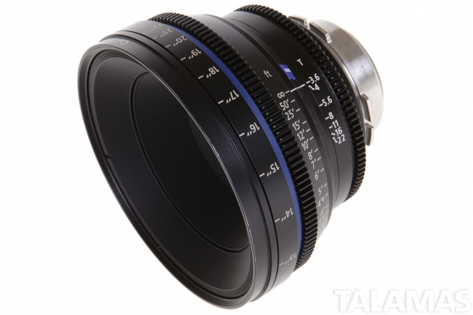 Zeiss 18mm T3.6 CP.2 Compact Prime Lens with PL Mount side view