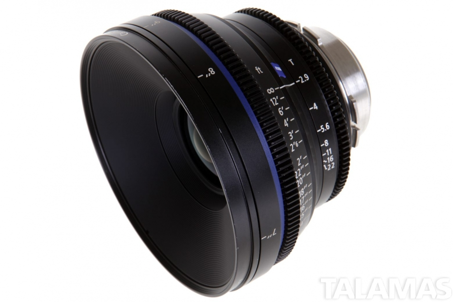 Zeiss 25mm T2.9 CP.2 Compact Prime Lens with PL Mount side view