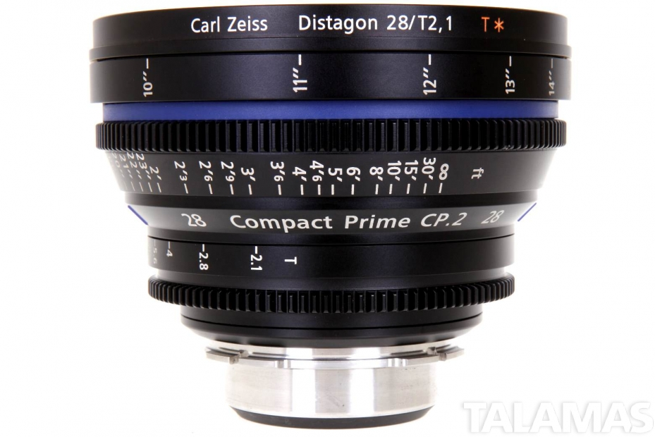 Zeiss 28mm T2.1 CP.2 Compact Prime Lens with PL Mount
