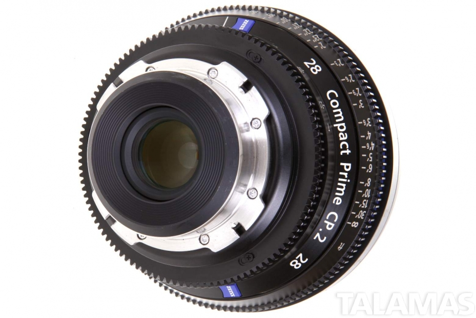 Zeiss 28mm T2.1 CP.2 Compact Prime Lens with PL Mount rear view