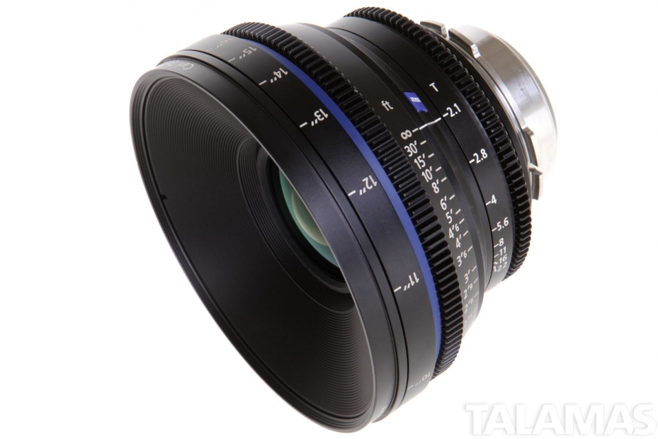 Zeiss 28mm T2.1 CP.2 Compact Prime Lens with PL Mount side view