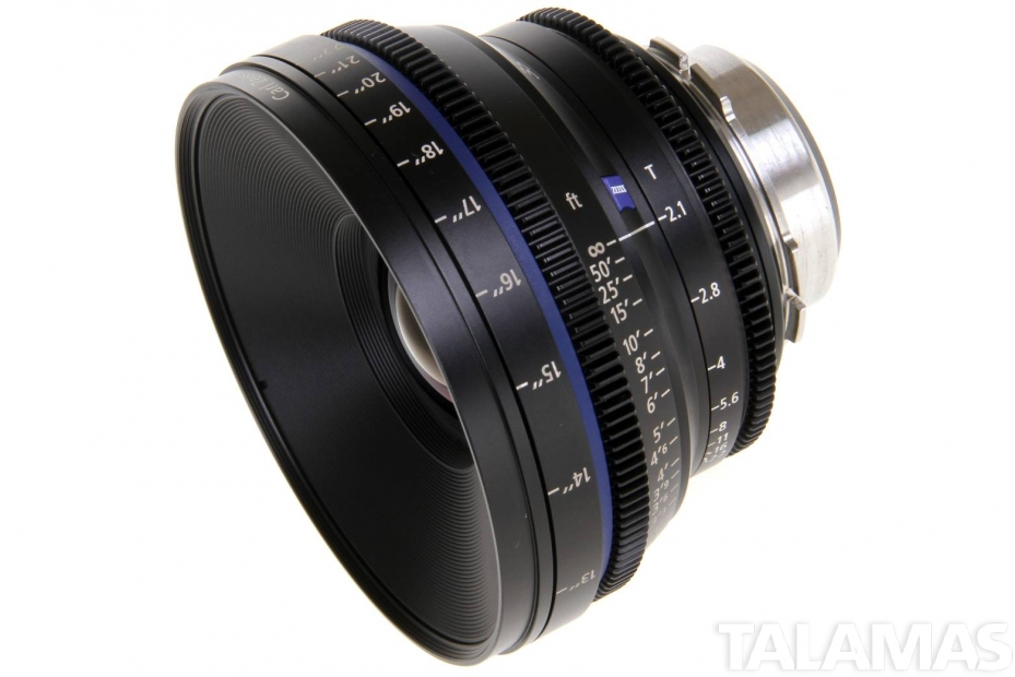 Zeiss 35mm T2.1 CP.2 Compact Prime Lens side view