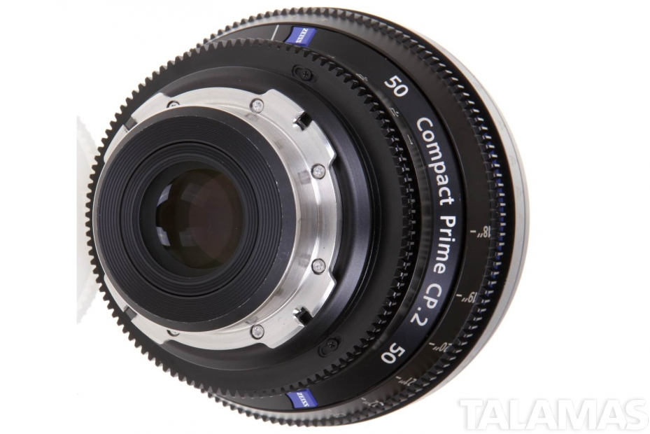 Zeiss 50mm T2.1 CP.2 Compact Prime Lens with PL Mount rear view