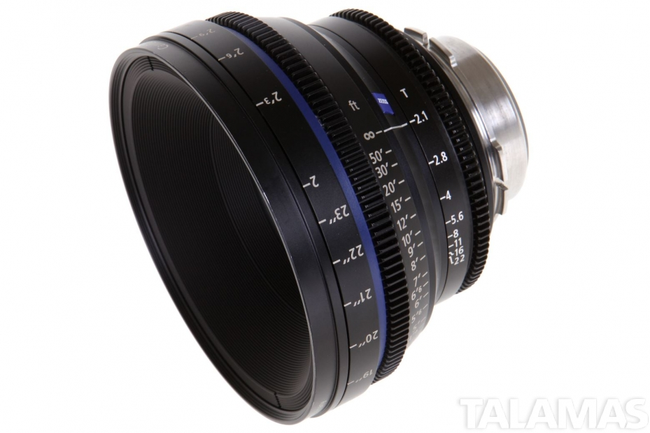 Zeiss 50mm T2.1 CP.2 Compact Prime Lens with PL Mount side view
