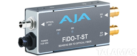 AJA FiDO-T-ST Single-channel SD/HD/3G SDI to Optical Fiber