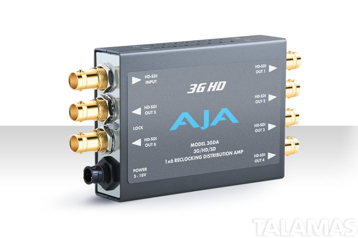 AJA 3GDA HD/SD SDI Reclocking Distribution Amplifier