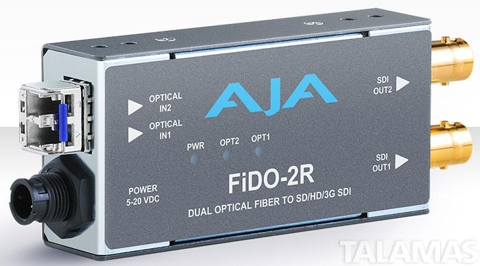 AJA FiDO-2R Dual-channel Optical Fiber to SD/HD/3G SDI