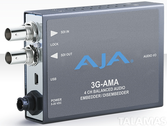 AJA 3G-AMA 3G-SDI 4-Ch Analog Audio Embedder/Disembedder