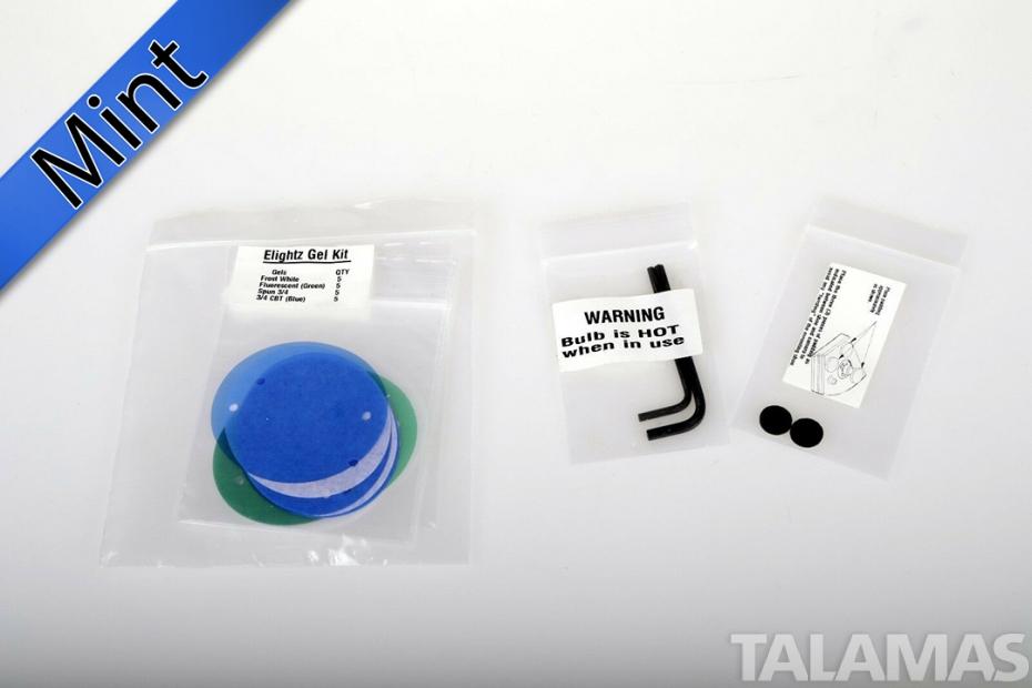 ELIGHTZ 7.2 Volt on camera light w/ 10 watt bulb and gel kit