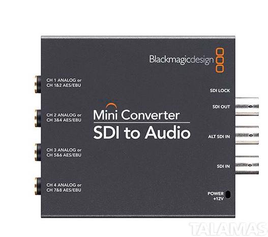 Black Magic Design Mini Converter - SDI to Audio (PS Incl.)