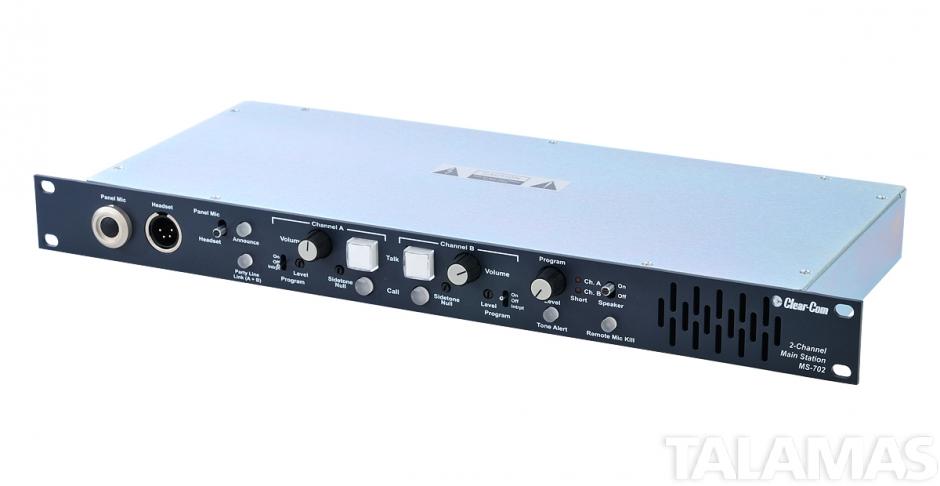 Clear-Com 2-Channel Headset Speaker Main Station