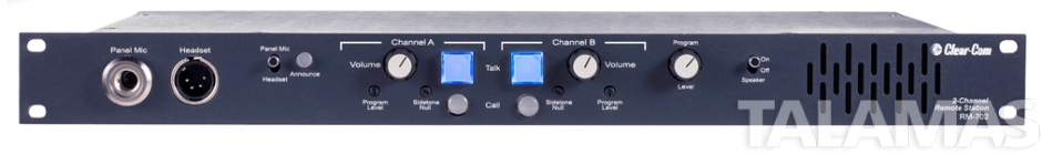 Clear-Com RM-702  Two-Channel Headset/Speaker Station