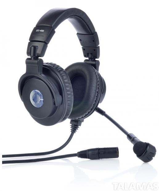 ClearCom CC-400 Double Muff Headset, 4 Pin Female XLR Connector