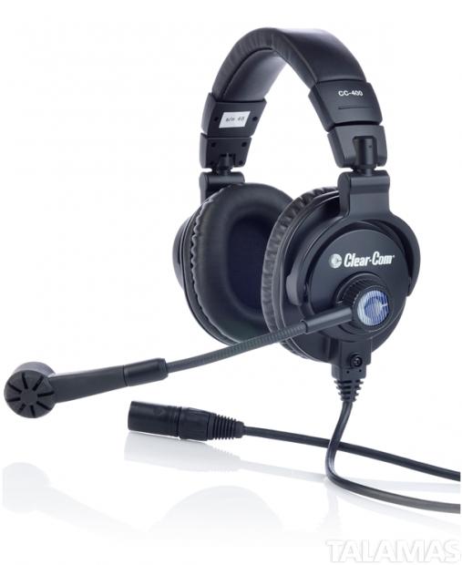 Clear-Com CC-400 Double Muff Headset, 5 Pin Female XLR Connector