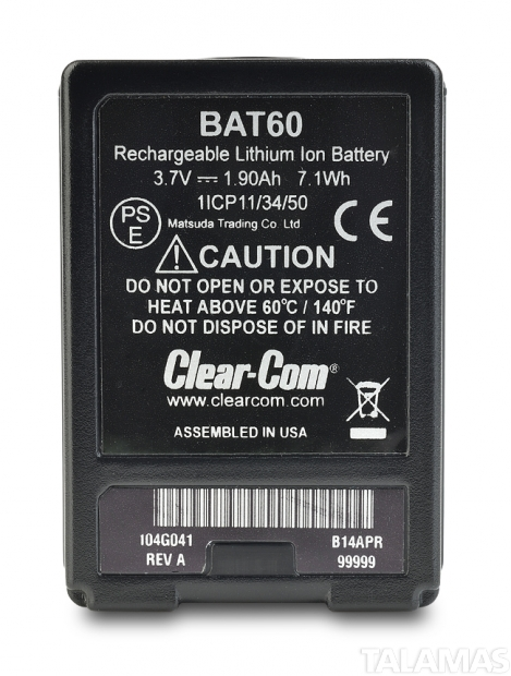 Clear-Com BAT60 FreeSpeak II Battery