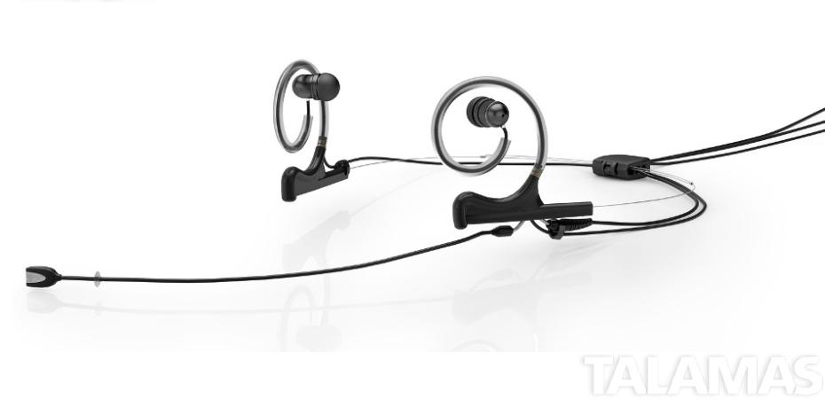 DPA FIDB00-2-IE2-B, d:fine In-Ear Broadcast Headset, Black, 120mm