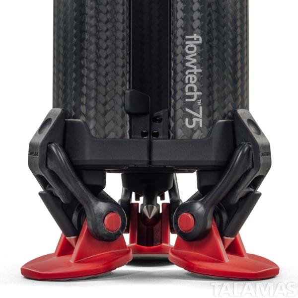 Sachler 4585 Flowtech 75 MS.2-stage Carbon Fibre Tripod