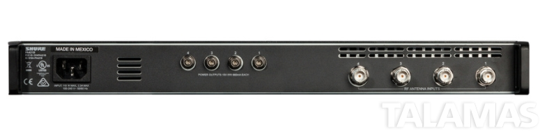 Shure PA421B Four-Channel Antenna Combiner, 470-865 MHz