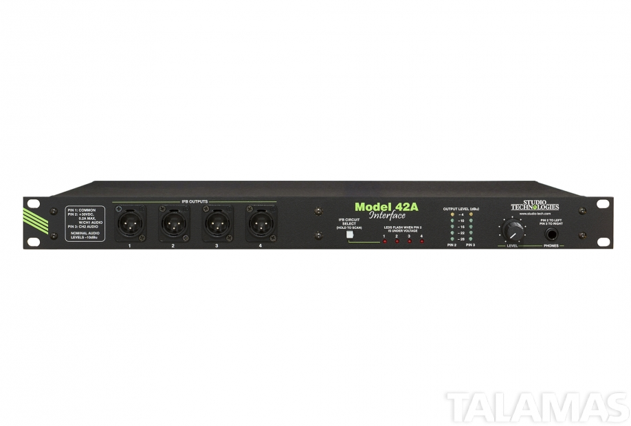 Studio Technologies Model 42A Line-Level Audio to IFB Circuit Interface